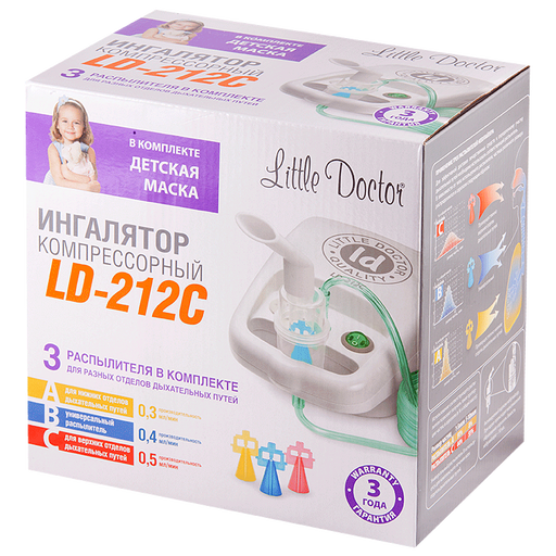 Ингалятор компрессорный Little Doctor LD-212С, LD-212C, в ассортименте, 1 шт. цена